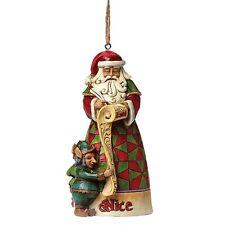 Heartwood Creek Naughty & Nice Santa Hanging Ornament New IN Box  25426