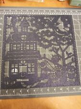 Scrapbook paper lot 12x12 Halloween K&Co Ghostly Greetings Haunted Glitter 5p