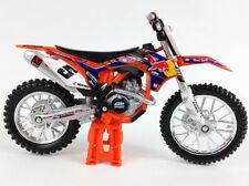 Modellini statici di moto e quad arancione New-Ray Scala 1:18