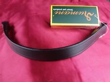 Rumani Plain Leather Browband Black And Brown - Full, Cob And Pony