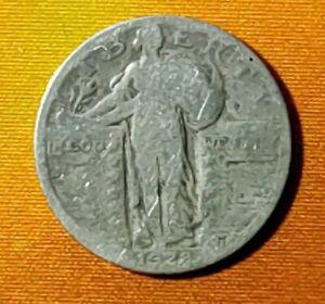 1928 Standing Liberty Silver Quarter Dollar Coin
