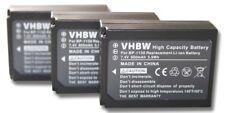 3x Conjunto de Batería 800 mAh Para VHBW Samsung NX500-ED-BP1130, BP-1130