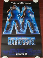 SUPER MARIO BROTHERS Original (1993) 27x40 Movie Poster ROLLED F-VF CONDITION!