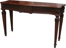 Solid Mahogany Adam Console Table Handcarved Antique Reproduction T026