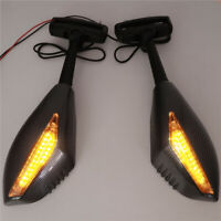 LED Turn Signal Integrated Mirror for Suzuki GSX-R GSXR 600 750 Hayabusa Katana