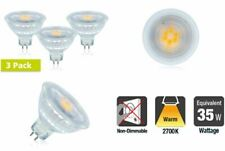 LED MR16 Glass GU5.3 4.8W (35W) 2700K 390lm Non-Dimmable Lamp - 3 PACK