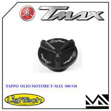TAPPO OLIO MOTORE NERO LIGHTECH PER YAMAHA T MAX TMAX 500 530 DAL 2001 AL 2018