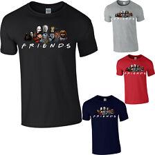 Supervillains Friends T-Shirt Halloween Jason Freddy It Pennywise Pinhead Evil