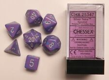 Chessex 7 Dice Set Speckled Silver Tetra CHX 25347 for D&D & D20