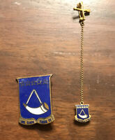 "WW1 WWI Blue 150th Cavalry Regiment Pins ""We Can Take It"""
