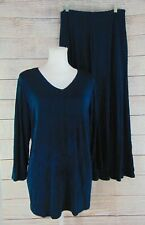 Citiknits Reversible Top and Sure-Shaper 8-Gore Skirt Slinky Women's Large New