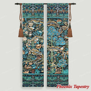 In The Blue Wood by William Morris Tapestry Wall Hanging Jacquard Woven Gobelin