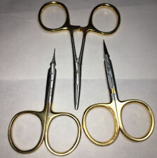 Dr. Slick Fly Tying Tools- 2 Scissors and 1 Small Hemostat
