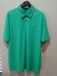 Nike Tiger Woods Collection Dri Fit Poly Spandex Vented Golf Polo Shirt Mens XL