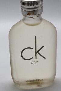 Calvin Klein CK One EDT Splash 0.5oz Cologne Perfume Unisex No Box Chip