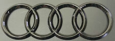 AUDI RINGS BLACK GLOSS REAR BOOT TRUNK BADGE LOGO EMBLEM STICKER 192mm X 62mm