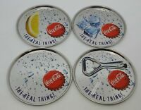 Coca Cola Stock 4 Coasters Metal the Real Thing