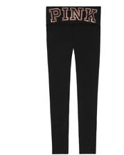 Victoria Secret PINK Fleece Lined ski layer Legging ultimate lace-up BLING Pants