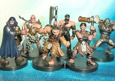 Dungeons & Dragons Miniatures Lot  Half Orc Player Characters Brutes !!  s108
