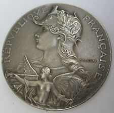 """médaille ART NOUVEAU """" ASSO. AGRICOLE de ST AMAND  """" en argent par F.RASUMNY"""