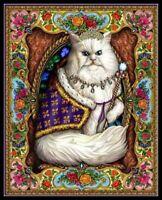Majestic Cat - DIY Chart Counted Cross Stitch Patterns Needlework 14 ct