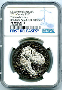 2021 $20 1OZ CANADA REAPER OF DEATH BLACK RHODIUM NGC PF70 MATTE SILVER PROOF FR