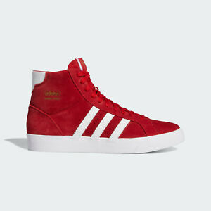 adidas Originals Basket Profi Suede Retro Style Shoes in Red and White