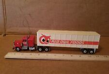 Vintage PlayArt RED OWL FOODS STORES Diecast Semi Truck 1:64 SCALE