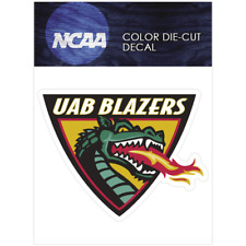 UAB Blazers Logo NCAA Die Cut Vinyl Car Sticker Bumper Window