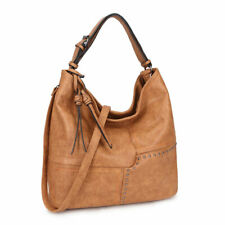 Dasein Womens Handbags Soft Faux Leather Hobo Shoulder Crossbody Bag Purses
