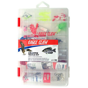 EAGLE CLAW CRAPPIE TACKLE KIT, 53 PIECES
