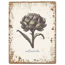 Pp0865 Artichoke Parking Plate Chic Sign Home Kitchen Restaurant Cafe Decor Gift