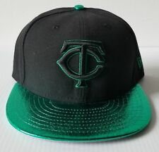 01e75d1596983f New Era Minnesota Twins 59FIFTY 5950 Metallic Green Visor Cap Fitted MLB Hat