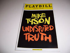 2012 LONGACRE THEATRE PLAYBILL- MIKE TYSON: UNDISPUTED TRUTH