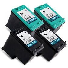 4 Pack HP 74 75 Ink Cartridge DeskJet D4260 D4263 D4268 D4280 D4360 D4363 D4368
