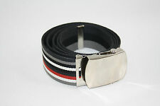 "Men's 40mm Webbing REVERSIBLE Belt Can Fit Up To 50"" Waist 0778"