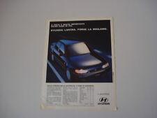 advertising Pubblicità 1994 HYUNDAI LANTRA