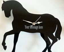 HORSE CLOCK WALL MOUNTED WITH MESSAGE