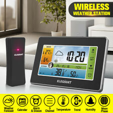 Digital Wireless Weather Forecast Station Alarm Humidity Outdoor Thermometer Us