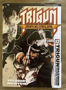 RARE Trigun Maximum Volume 13 - Double Duel (Paperback 2008) Manga + Dust Jacket