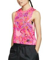 Nike Women's 246796 Pink Printed Cropped Tank Top Size L