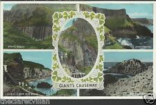 Giant's Causeway  Multiview  Carrick-a rede Honeycomb Ampitheatre c. 1954 Unpost