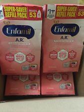 Enfamil A.R. Spit Up Baby Formula 4 pack super saver refill packs Ex Feb 2022