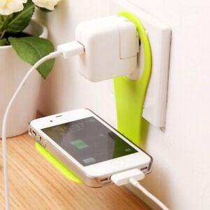 Mobile Phone Wall Charger Adapter Charging Holder Hanging Stand Bracket Hook New