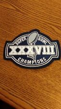 "NFL SUPERBOWL XXXVIII NEW ENGLAND PATRIOTS CHAMPS PATCH IRON ON 4.5""X 3.5"" NICE!"