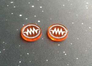 X-Wing 2.0 compatible, acrylic jam tokens - translucent series