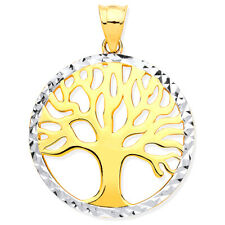 9ct Solid Gold Tree Of Life Pendant - Boxed