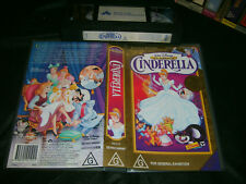 VHS *WALT DISNEY CLASSICS - CINDERELLA* - Rare Australian Limited Release Issue!