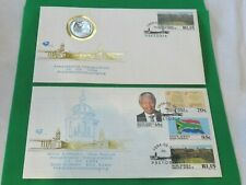 More details for x2 first day cover nelson mandela presidential inauguration 10 may 1994 +5 rand