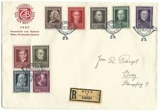 Austria Stamp day registered letter 12-5-1937 Vienna 1st day cover Scott B156/64
